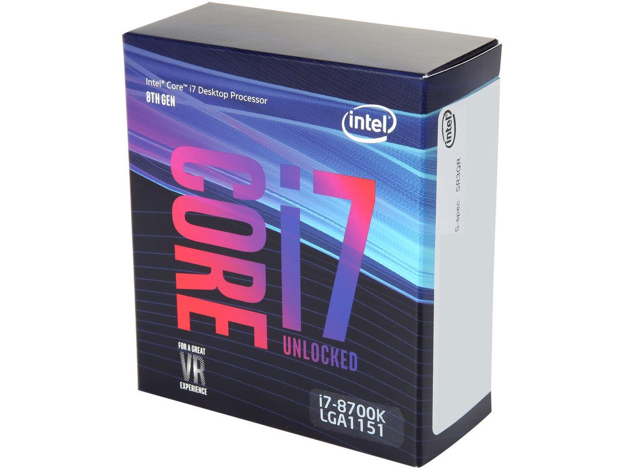 Intel Core i7-8700K Coffee Lake 6-Core 3.7 GHz (4.7 GHz Turbo) L